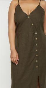 Asymmetrical Front Button Cami Dress XL